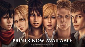 Shingeki no Art Prints by trixdraws