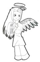 Angel Lineart by Tammy-Spirit