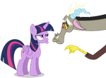 Discord and Twilight: Pouty Face by Lahirien