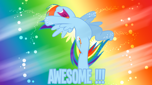 Awesome Rainbow Dash Wallpaper by BlueDragonHans