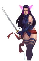 Psylocke by pop-lee