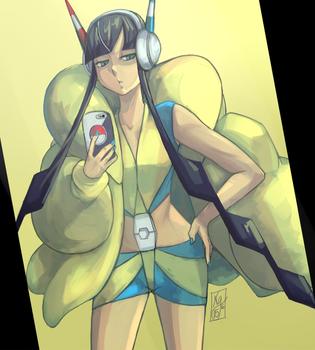Day Yellow : [PKMN] Pre-Gym Selfie Elesa by gniao
