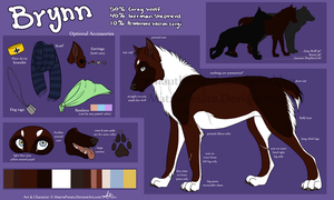 fursona - Brynn reference [feral] by MatrixPotato