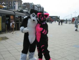 me and storm by FurryFursuitMaker