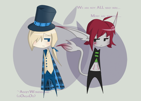 Hatter in training and a mouse by oOnyaOo