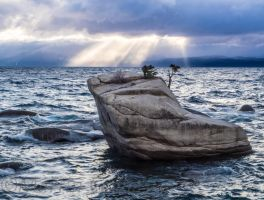 stormy Sunset Lake Tahoe Nevada140325-115 by MartinGollery
