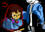 Chara contra Frisk 5 by reina-del-caos
