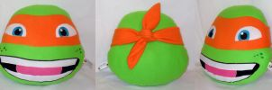 FOR SALE :TMNT: Mikey Pillow by MiharutheKunoichi