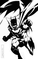 Batman by johnnymorbius