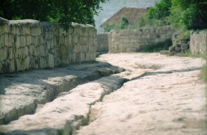 Old streets of Chufut Kale by sharktooth