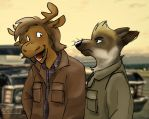 Moose and Dog by DarthFeatherpants