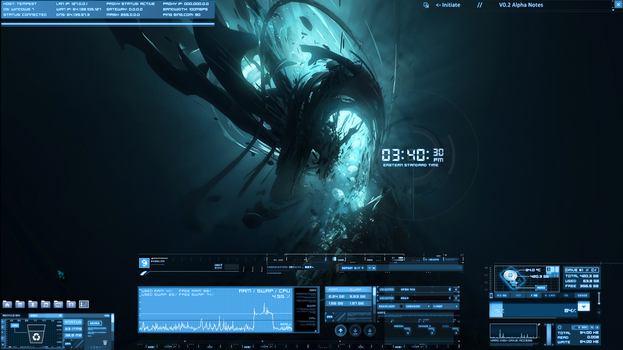 Rainmeter skins favourites by cthulhucaptain7 on deviantart for Bureau windows 7 rainmeter