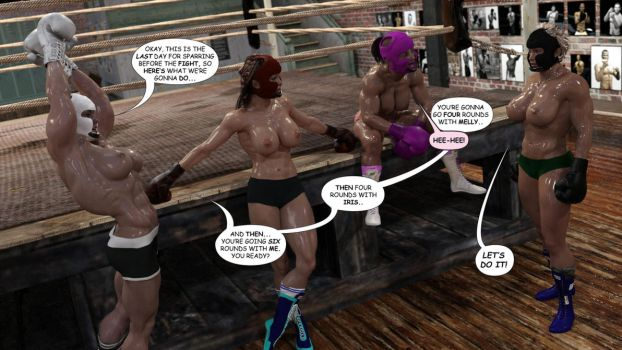 Creating A Monster Update: Sparring Day! by AFCombat