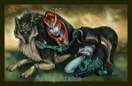 Link and Midna - Spoiler by arania