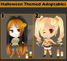 Chibi Halloween Themed Adoptables (Open) by sparkling-dreamz