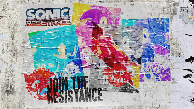 Sonic Resistance - Poster's on Wall by NathanLaurindo