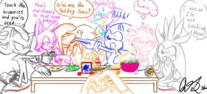 Thanksgiving with Friends by QTStartheHedgehog