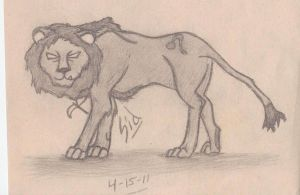 Sid in Lion Form by 777-Dragon