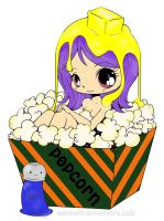 Popcorn Girl (Originally from YamPuff) by pink-marshmallows