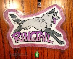 ConBadge: Ringtail by FlannMoriath