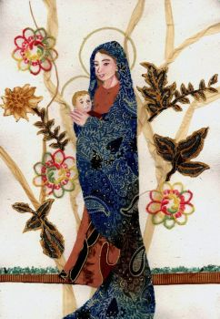 Virgin and Child II [Mixed Media] by agianna