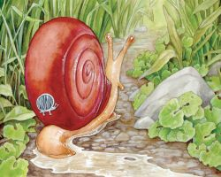 The Snail's Bumper Sticker by ursulav