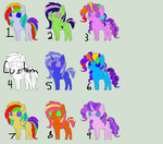 MLP Shipping Adopts (9/9 open!!!) by Dinkypinky9