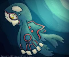Kyogre in the sea by Eledora