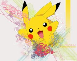 Wallpaper Pikachu Jumping by TheGameJC