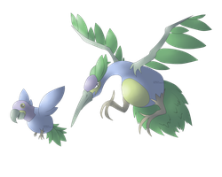 Macaw and Stork FAKEMON by Weyard
