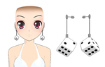 Dice Earrings + Download by Aira-Melody