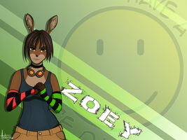 Zoey wallpaper by AntaresIceslayer