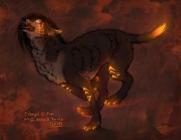 Glow-sketch: Smokey-desperado by Yoruko