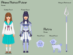 Stardust - Akane Reference Sheet + Astra by theRainbowOverlord