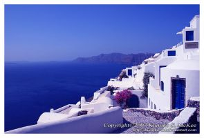 Scenery of Santorini 2 by Kumiko-Art