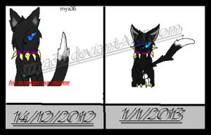 2012 vs 2013 by mya36