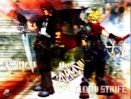 Cloud and Leon-Squall by K-Shogun