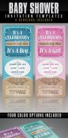 Baby Shower Invitation Template by AnotherBcreation