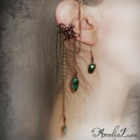 Bronze Faerie Ear Cuff by AmeliaLune