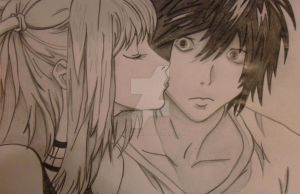 Misa kisses Ryuzaki by CherishYourDreams