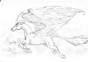 pegasi+unicorn -sketch- by dreamdragon