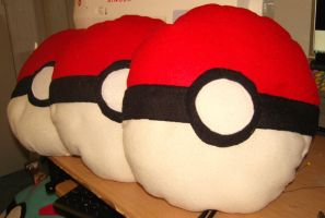 pokemon pokeball pillow by AWpillows