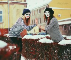 The mimes in da city. by Lukreszja