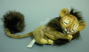Sleepy Baby Dark Lion - for sale by WhittyKitty