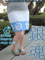 Gintoki Inspired Wrap Skirt by myfatfelix88