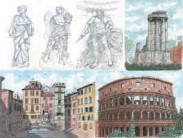 Travel sketches - Rome by Serio555