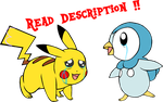~Base~ I Don't Want to Say Goodbye Pikachu Piplup by YukiMemories