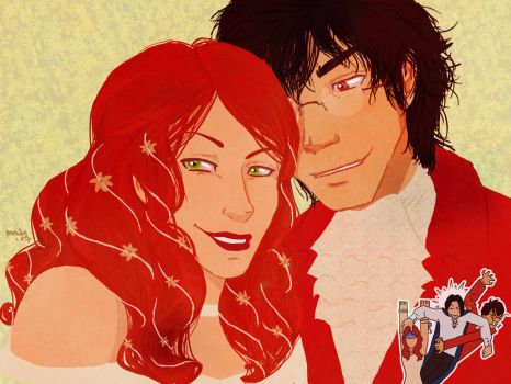 James and Lily ...and Sirius by lady-voldything