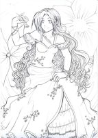 Waiting for spring lineart by Shinigami-chan02