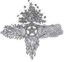 Wiccan Elemental E.A. Cross by lilmoongodess